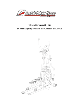 CZ IN 3585 Eliptický trenažér inSPORTline TACOMA