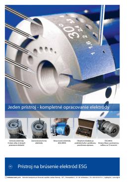 Prístroj na brúsenie elektród ESG