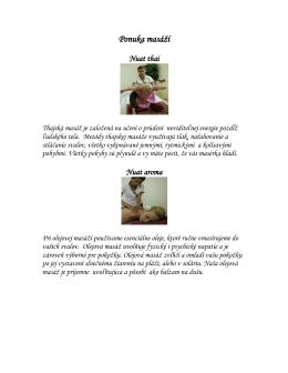 Ponuka masáží