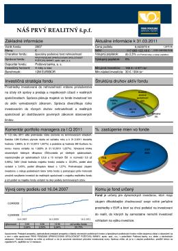 Factsheet fondu - Profinancie.sk