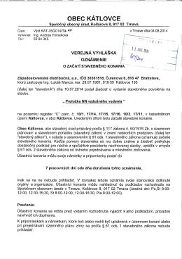 Obec KÁTLOVCE - informačný portál obce