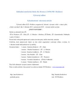 Výtvarná súťaž - zusroznava.sk