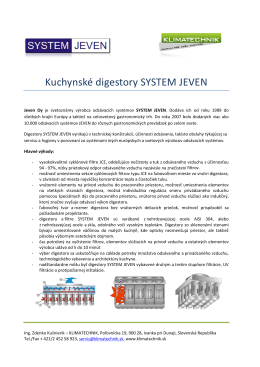 Kuchynské digestory SYSTEM JEVEN