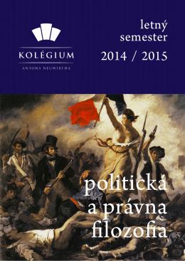 Morálna, politická a právna filozofia (letný semester 2015)