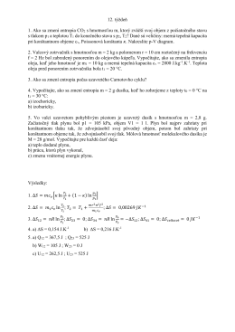 12. týždeň 1. Ako sa zmení entropia CO2 s hmotnosťou m