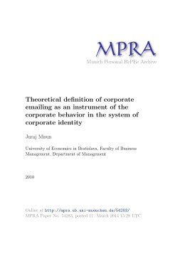 Theoretical definition of corporate emailing as an instrument of the