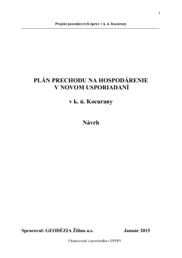 Plán prechodu - Obec Kocurany