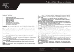 Projekčné fólie (pdf)