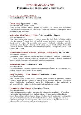 Program prehliadky ETNOFILM 2012