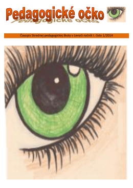 Pedagogické očko 2013 - Stredná pedagogická škola