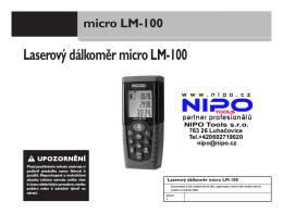 Laserový dálkoměr micro LM-100