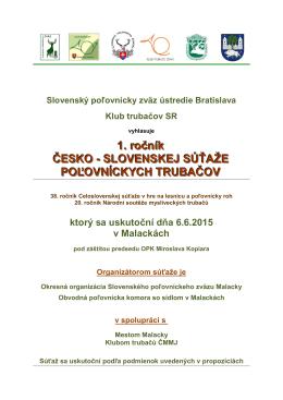 Propozície súťaže - Slovenská poľovnícka komora