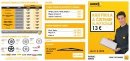 13 € - Servis 5+