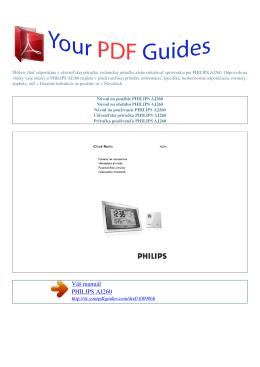 Návod na používanie PHILIPS AJ260