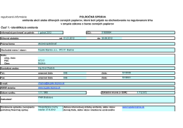Polročná finančná správa k 30.06.2012 - doplnená