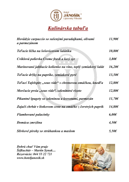 Kulinárska tabuľa