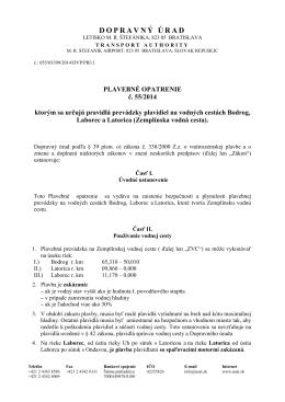 Plavebné opatrenie - dokument