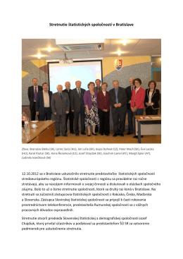 Stretnutie štatistických spoločností v Bratislave