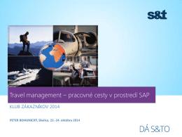 Travel management – pracovné cesty v prostredí SAP