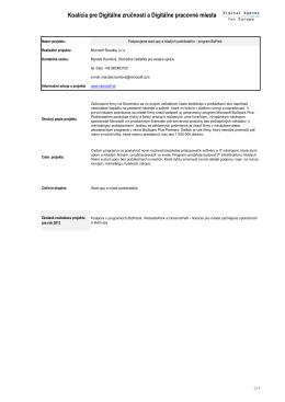 Koalícia pre Digitálne zručnosti a Digitálne pracovné miesta