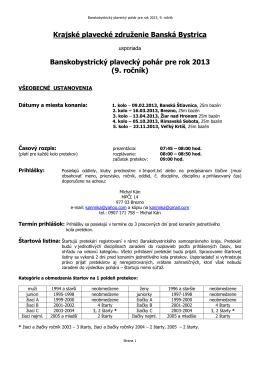 Krajské plavecké združenie Banská Bystrica