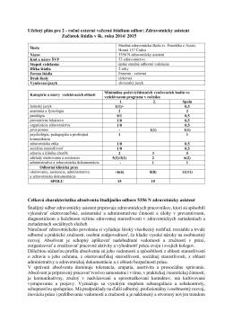 Zdravotnícky asistent - Stredná zdravotnícka škola sv. Františka z