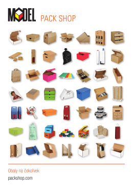 Obaly na čokoľvek packshop.com