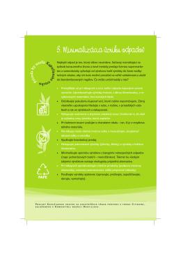 3. Minimalizácia vzniku odpadov