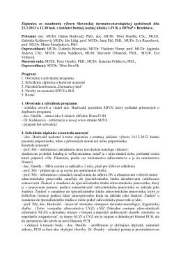 2013_02_23 Zapisnica zo zasadnutia vyboru SDVS DFNsP