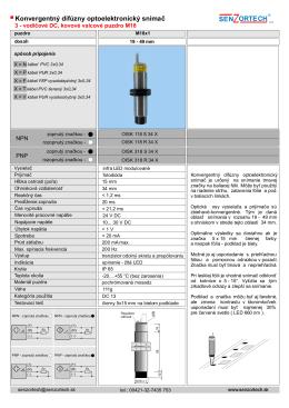 Konvergentný difúzny optoelektronický snímač SEN