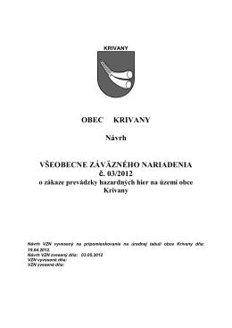 VZN 3-2012 - zákaz prevádzky hazardných hier [pdf, 82 kB]