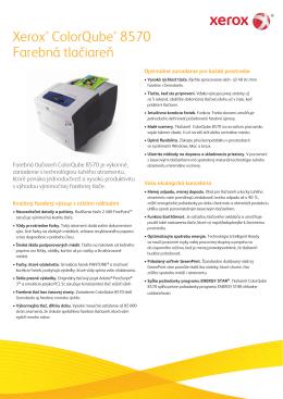 Xerox® ColorQube® 8570 Farebná tlačiareň
