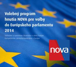 Volebný program hnutia NOVA pre voľby do