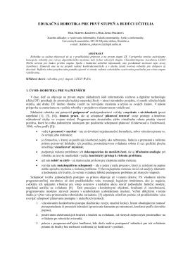 v slovenčine - Katedra základov a vyučovania informatiky