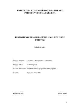bakalárska práca, autor Bc. Lukáš Nosko