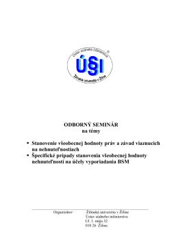 pozvánke - Ústav súdneho inžinierstva, Žilina