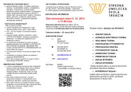 Deň otvorených dverí 5. 12. 2013 o 11,00 hod.
