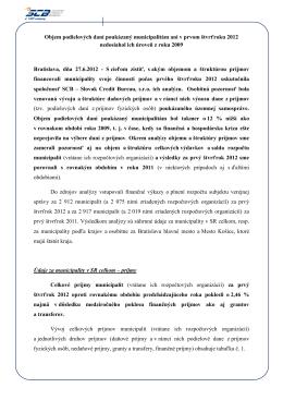 TS Objem podielových daní poukázaný municipalitám