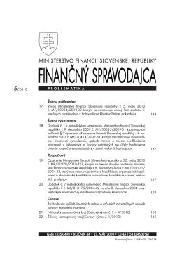 Finančný spravodajca 5/2010
