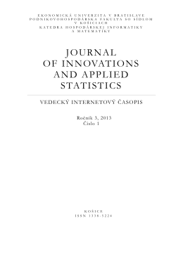 f - Journal of Innovations and Applied Statistics