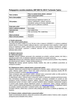Pokyn na vedenie fondu učebníc (PDF)