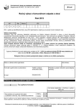 ŽP 6-01 - Štatistický úrad SR