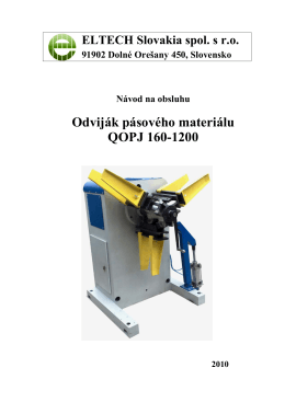 Odviják QOPJ 160/1200 - ELTECH Slovakia spol. s ro