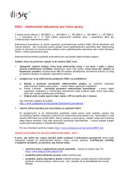 EMCS - elektronické dokumenty pre Colnú správy