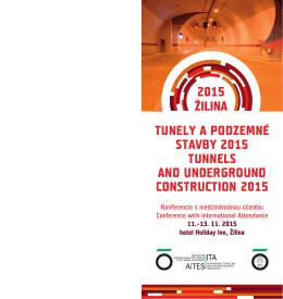 TUNELY A PODZEMNÉ STAVBY 2015 TUNNELS AND
