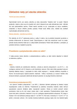 Základné rady pri stavbe skleníka