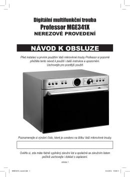Professor MGE341X NÁVOD K OBSLUZE