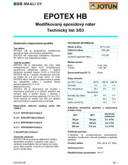 epotex hb - Valor SK