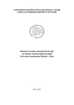 (PDF, 191KB) - Fakulta stredoeurópskych štúdií UKF Nitra