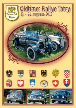 Bulletin Oldtimer Rallye Tatry 2011